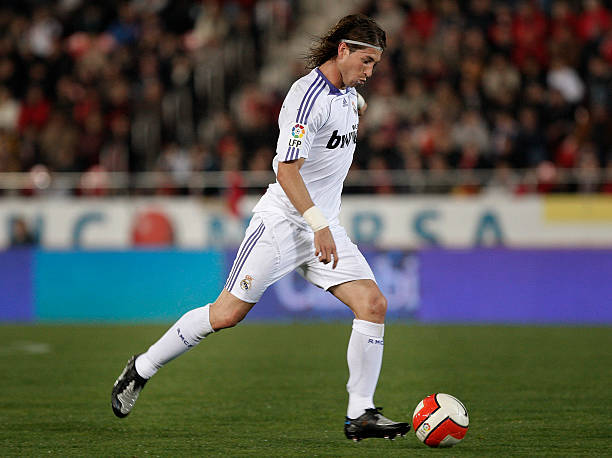 Sergio Ramos of Real Madrid runs with the ball during the La Liga match  between Mallorca 0489d0a4f06