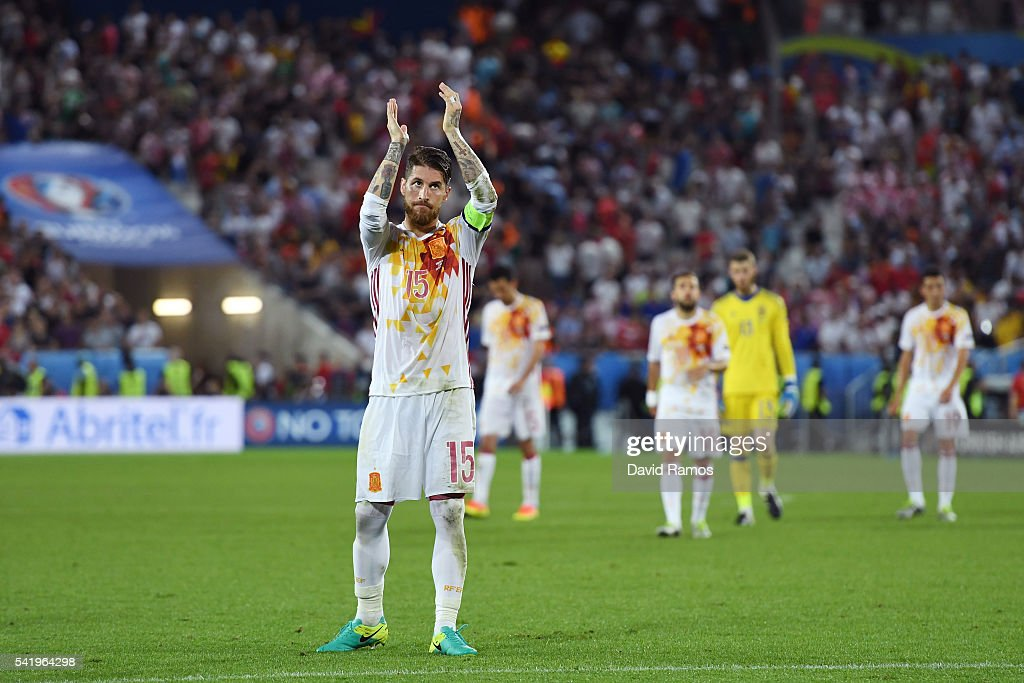Croatia v Spain - Group D: UEFA Euro 2016 : News Photo