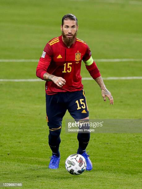 Sergio Ramos of Spain during the UEFA Nations league match between Spain v Germany at the la Cartuja Stadium on November 17, 2020 in Sevilla Spain