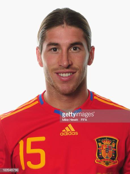 Sergio Ramos of Spain poses during the official Fifa World Cup 2010 portrait session on June 13 2010 in Potchefstroom South Africa