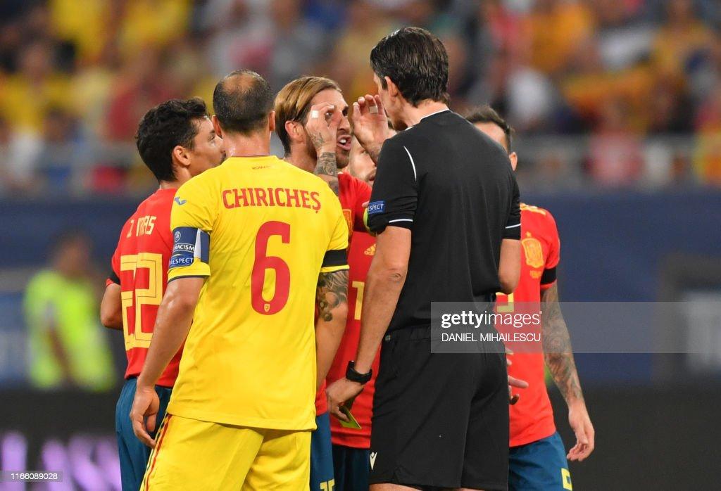 FBL-EURO-2020-QUALIFIER-ROU-ESP : News Photo