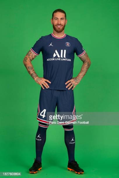 Sergio Ramos sign a 2 year contract with Paris Saint-Germain on July 08, 2021 in Boulogne-Billancourt, France.