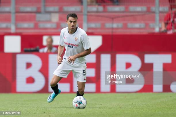 Sergio Reguilon of FC Sevilla controls the ball during the Opel Cup 2019 match between 1 FSV Mainz 05 and FC Sevilla at Opel Arena on July 27 2019 in...