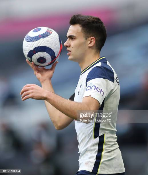 Sergio Reguilon of Tottenham Hotspur during the Premier League match between Tottenham Hotspur and Manchester United at Tottenham Hotspur Stadium on...