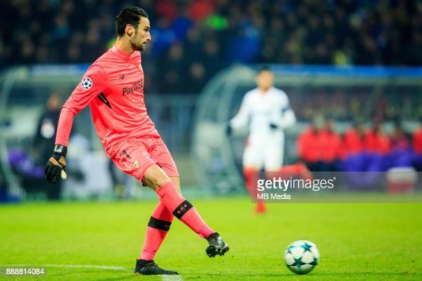 Sergio Rico of FC Sevilla during Group E football match between NK Maribor and FC Sevilla in 6th Round of UEFA Champions League on December 6 2017 in...