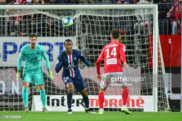 Sergio RICO of PSG and Abdou DIALLO of PSG during the Ligue 1 match between Brest and Paris Saint Germain at Stade FrancisLe Ble on November 9 2019...