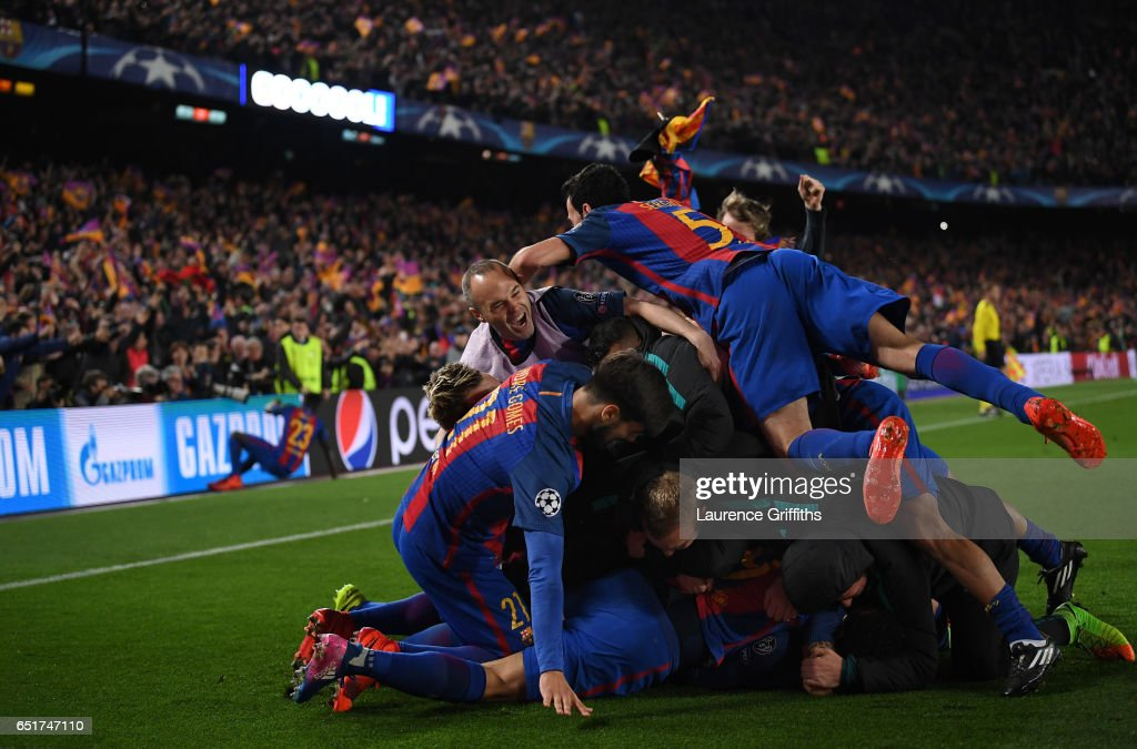 FC Barcelona v Paris Saint-Germain - UEFA Champions League Round of 16: Second Leg : Nachrichtenfoto