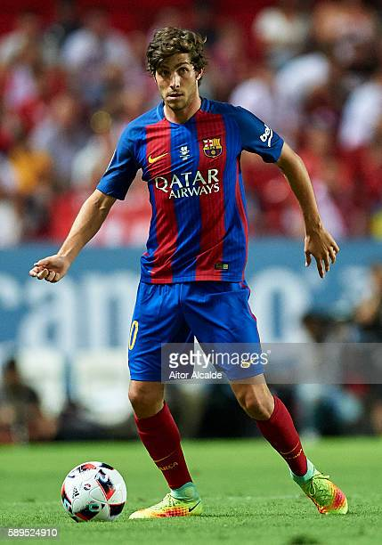 Sergio Roberto of FC Barcelona in action during the match between Sevilla FC vs FC Barcelona as part of the Spanish Super Cup Final 1st Leg at...