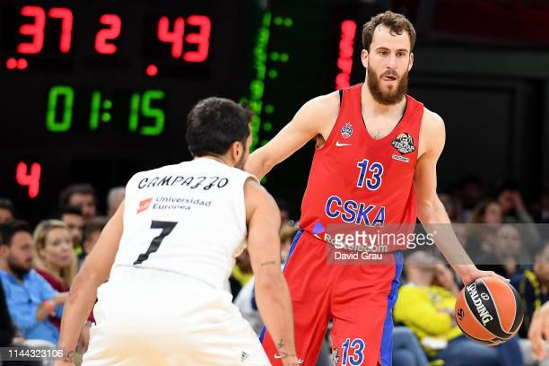 Sergio Rodriguez, #13 of CSKA Moscow in action during 2019 Turkish Airlines EuroLeague Final Four Semifinal B game between Semifinal B CSKA Moscow v...