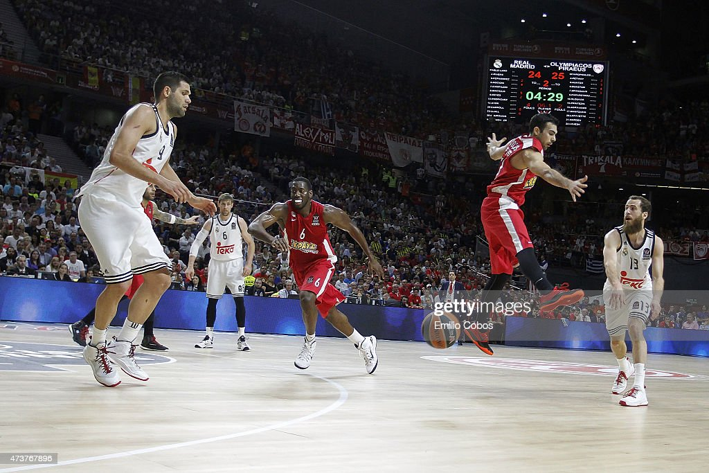 Turkish Airlines Euroleague Final Four Madrid 2015 - Final Game Real Madrid v Olympiacos Piraeus : News Photo