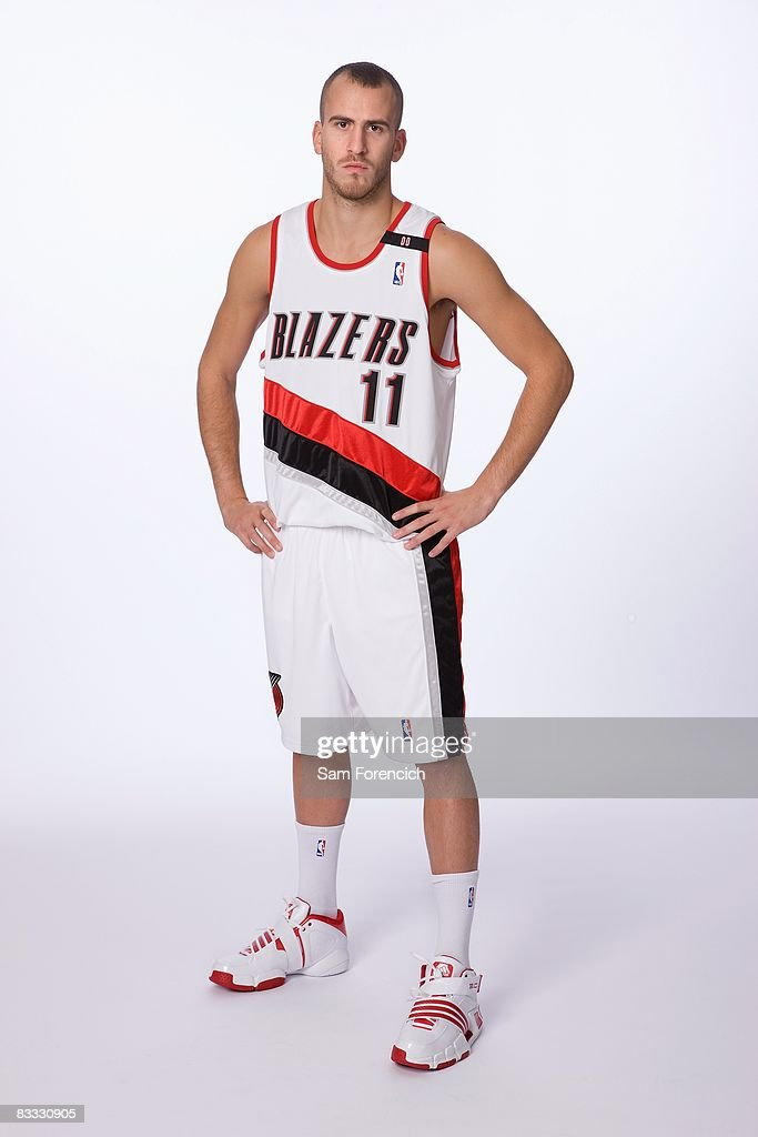 Sergio Rodriguez #11 of the Portland Trail Blazers poses for a portrait during NBA Media Day on September 29, 2008 at the Rose Garden Arena in Portland, Oregon.