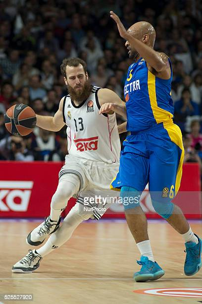 Sergio Rodriguez player of Real Madrid during the Euroleague basketball Group E round 12 match Real Madrid vs Macabi Electra Tel Aviv at the Palacio...