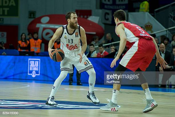 Sergio Rodriguez player of Real Madrid's during the Turkish Airlines Euroleague basketball Group E round 8 match Real Madrid vs Crvena Zvezda Telekom...