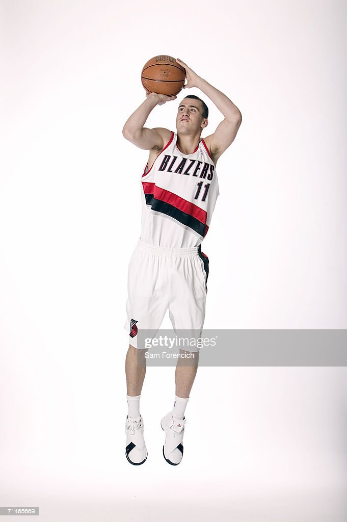 Sergio Rodriguez, the Portland Trail Blazers' new draft pick, poses during a portrait session July 6, 2006 in Portland, Oregon. Rodriguez, who played the last two seasons in Spain, was the 27th pick in the 2006 NBA draft. Rodriguez, who played the last two seasons in Spain was the 27th pick in the 2006 NBA draft.