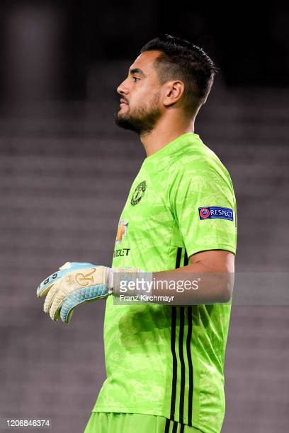 Sergio Romero of Manchester United during UEFA Europa League Round of 16 First Leg match between LASK and Manchester United at Stadion der Stadt Linz...