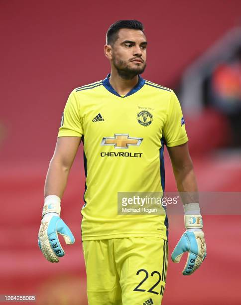 Sergio Romero of Manchester United in action during the UEFA Europa League round of 16 second leg match between Manchester United and LASK at Old...
