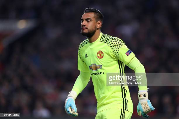 Sergio Romero of Manchester United looks on during the UEFA Europa League semi final second leg match between Manchester United and Celta Vigo at Old...
