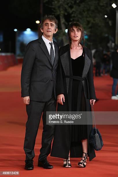 Sergio Rubini and Carla Cavalluzzi attend a red carpet for 'Dobbiamo Parlare' during the 10th Rome Film Fest on October 21 2015 in Rome Italy