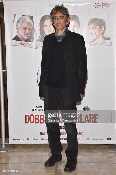 Sergio Rubini attends a photocall for 'Dobbiamo Parlare' on November 17 2015 in Milan Italy