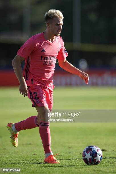 Sergio Santos of Real Madrid during the UEFA Youth League Semi Final match between Salzburg and Real Madrid at Colovray Sports Centre on August 22,...