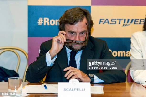 Sergio Scalpelli Director of External Relations and Institutions of Fastweb during the press conference for the launch of the 5G and Wi Fi services...