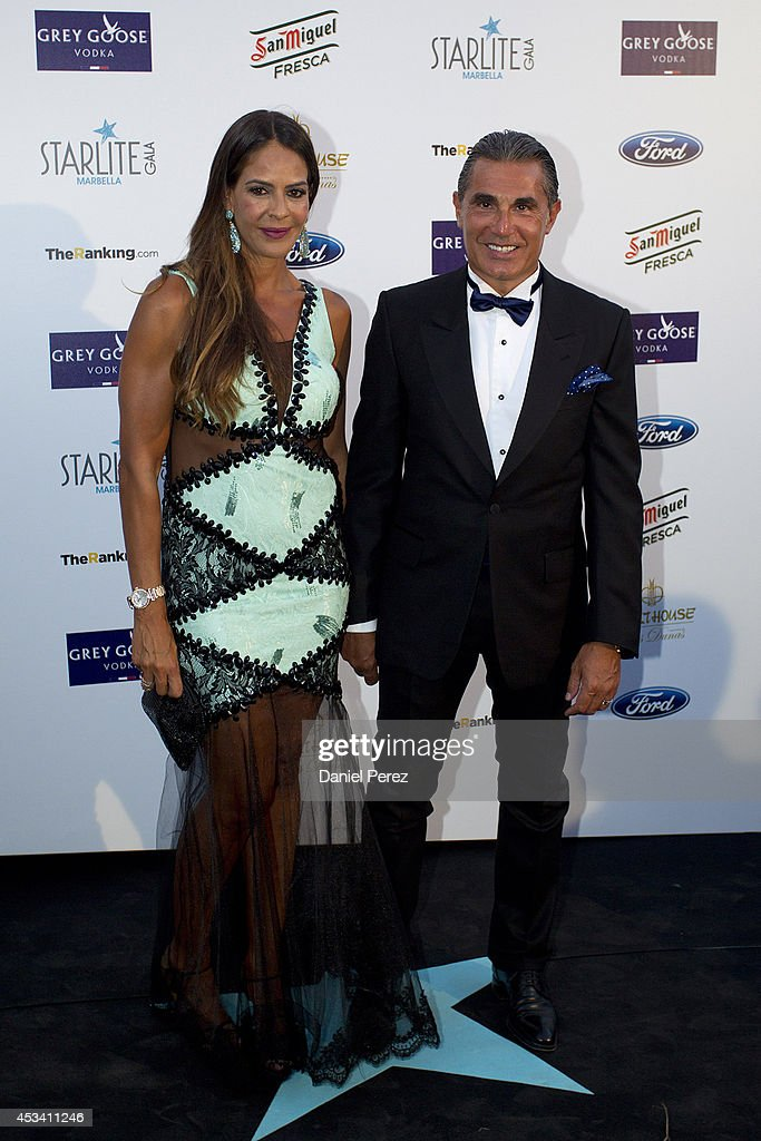Sergio Scariolo and Blanca Ares attend the 5th annual Starlite Charity Gala on August 09, 2014 in Marbella, Spain.