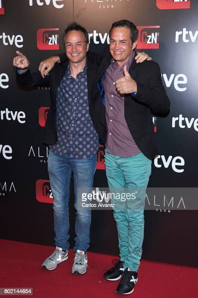 Sergio Torres and JAvier Torres attend 'Corazon' TV programme 20th Anniversary at the Alma club on June 27 2017 in Madrid Spain