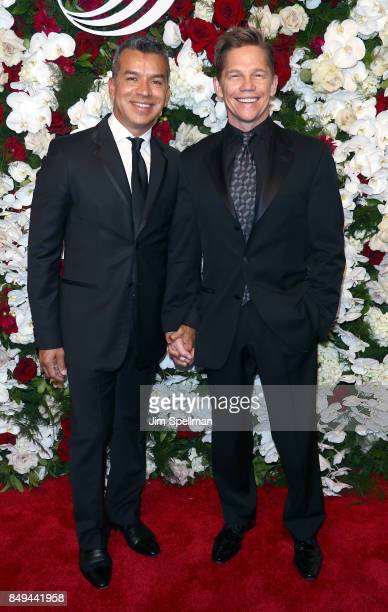 Sergio Trujillo and actor Jack Noseworthy attends The American Theatre Wing's Centennial Gala at Cipriani 42nd Street on September 18 2017 in New...