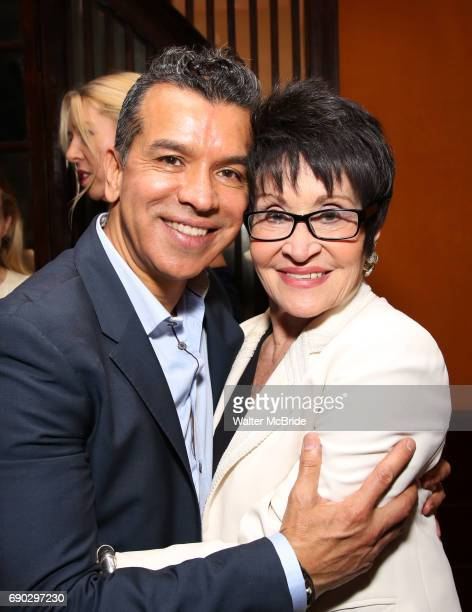 Sergio Trujillo and Chita Rivera attend the 2017 Chita Rivera Awards Nominees' Reception at The Lambs Club on May 30 2017 in New York City