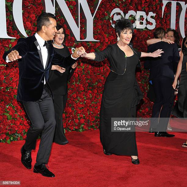 Sergio Trujillo and Chita Rivera dance on the red carpet at the 70th Annual Tony Awards at the Beacon Theatre on June 12 2016 in New York City