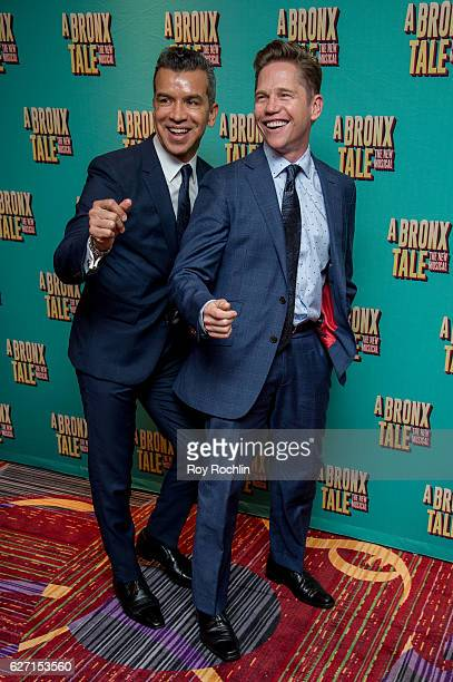 Sergio Trujillo and Jack Noseworthy attend 'A Bronx Tale' Broadway Opening Night After Party at Marriot Marquis on December 1 2016 in New York City