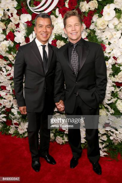 Sergio Trujillo and Jack Noseworthy attend the American Theatre Wing Centennial Gala at Cipriani 42nd Street on September 18 2017