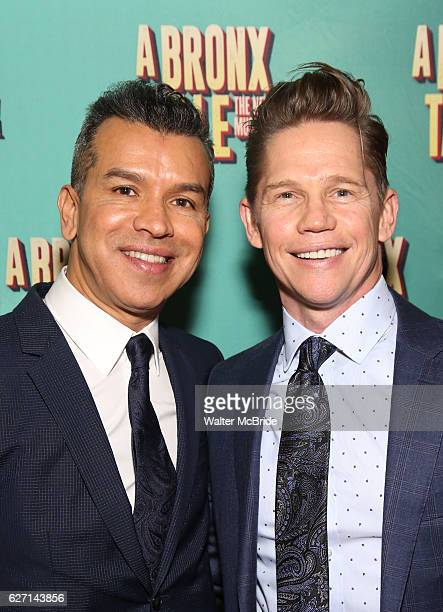 Sergio Trujillo and Jack Noseworthy attend the Broadway Opening Night Perfomance of 'A Bronx Tale' at The Longacre on December 1 2016 in New York City