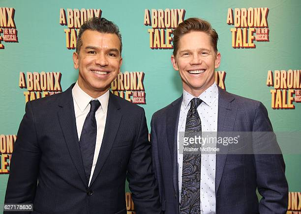 Sergio Trujillo and Jack Noseworthy attend the Broadway Opening Night After Party for 'A Bronx Tale' at The Marriot Marquis Hotel on December 1 2016...