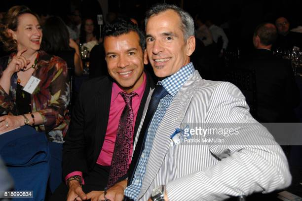 Sergio Trujillo and Jerry Mitchell attend STONEWALL COMMUNITY FOUNDATION 2010 VISION DINNER at The VISTA 1 Chase Manhattan Plaza on June 16 2010 in...