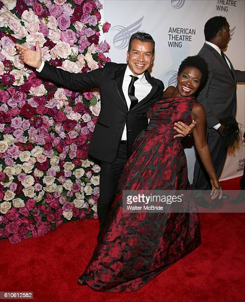 Sergio Trujillo and LaChanze attends the 2016 American Theatre Wing Gala honoring Cicely Tyson at the Plaza Hotel on September 22 2016 in New York...