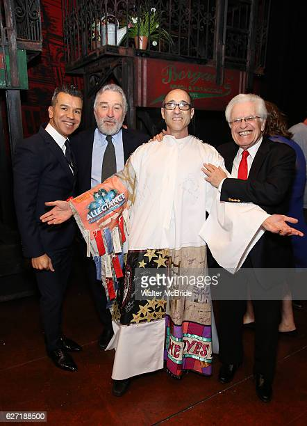Sergio Trujillo Robert De Niro Jonathan Brody and Jerry Zaks during the Actors' Equity Gypsy Robe Ceremony honoring Jonathan Brody for 'A Bronx Tale'...