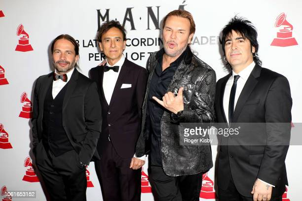 Sergio Vallin Juan Calleros Fher Olvera and Alex Gonzalez of Mana attend the Latin Recording Academy's 2018 Person of the Year gala honoring Mana at...