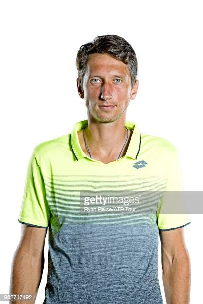 Sergiy Stakhovsky of Ukraine poses for portraits during the Australian Open at Melbourne Park on January 12 2018 in Melbourne Australia