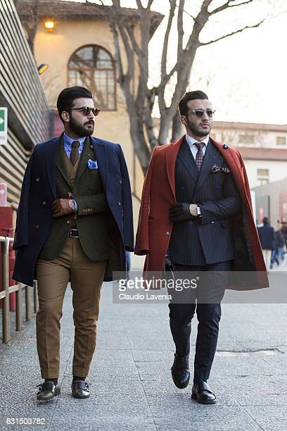 Serhat Nayc and Umit Obeyd are seen on January 11 2017 in Florence Italy