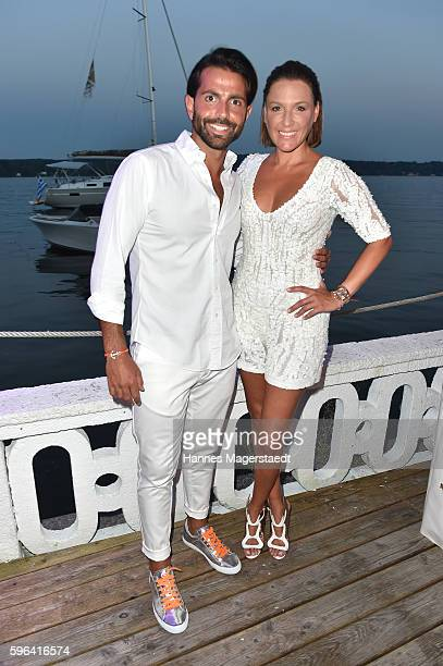 Serhat Yilmaz and Simone Ballack during the Serfan fashion show night on August 27 2016 in Starnberg Germany