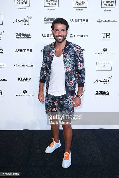 Serhat Yilmaz attends the Thomas Rath show during Platform Fashion July 2016 at Areal Boehler on July 24 2016 in Duesseldorf Germany