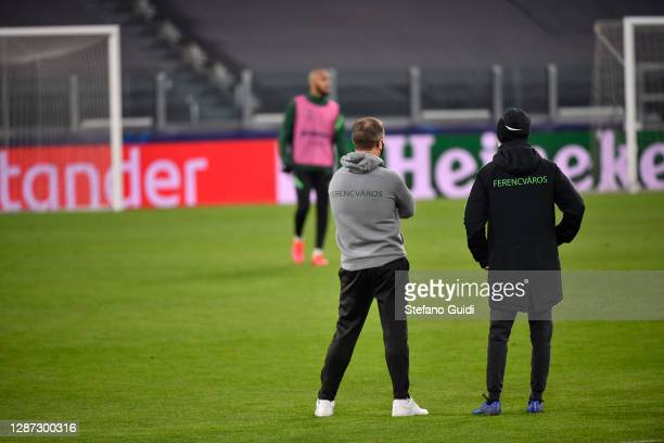 Serhij Rebrov coach of Ferencvárosi Budapest during of training session ahead of the UEFA Champions League Group G stage match between Ferencvaros...