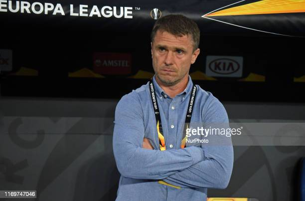 Serhiy Rebrov during the match between RCD Espanyol and Ferencvaros corresponding to the round 1 of the group stage of the Group H of the UEFA Europa...
