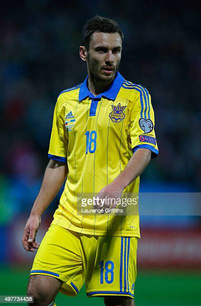 Serhiy Rybalka of Ukraine looks on during the UEFA EURO 2016 qualifier playoff second leg match between Slovenia and Ukraine at Ljudski Vrt Stadium...