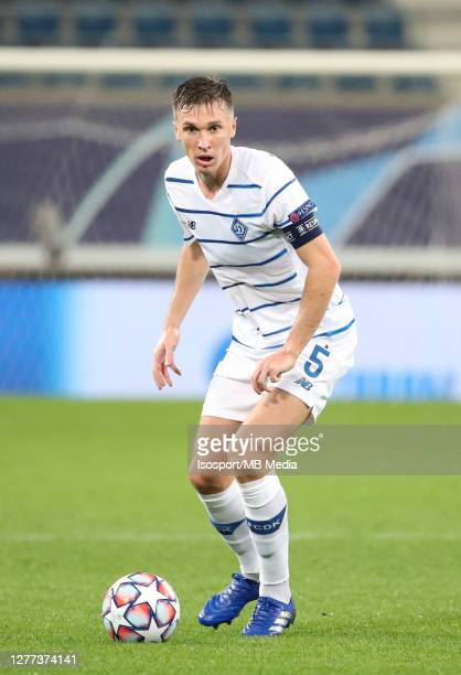 Serhiy Sydorchuk of Kyiv in action during the UEFA Champions League PlayOff first leg match between KAA Gent and Dynamo Kyiv at Ghelamco Arena on...