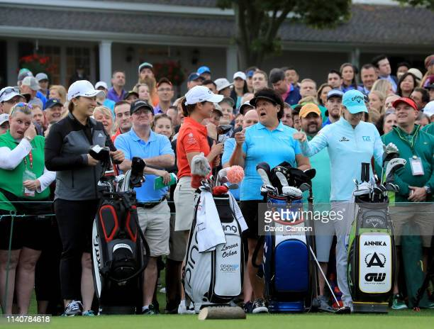 SeRi Pak of South Korea Lorena Ochoa of Mexico Nancy Lopez of the United States and Annika Sorenstam of Sweden four legends of the Women's on the...
