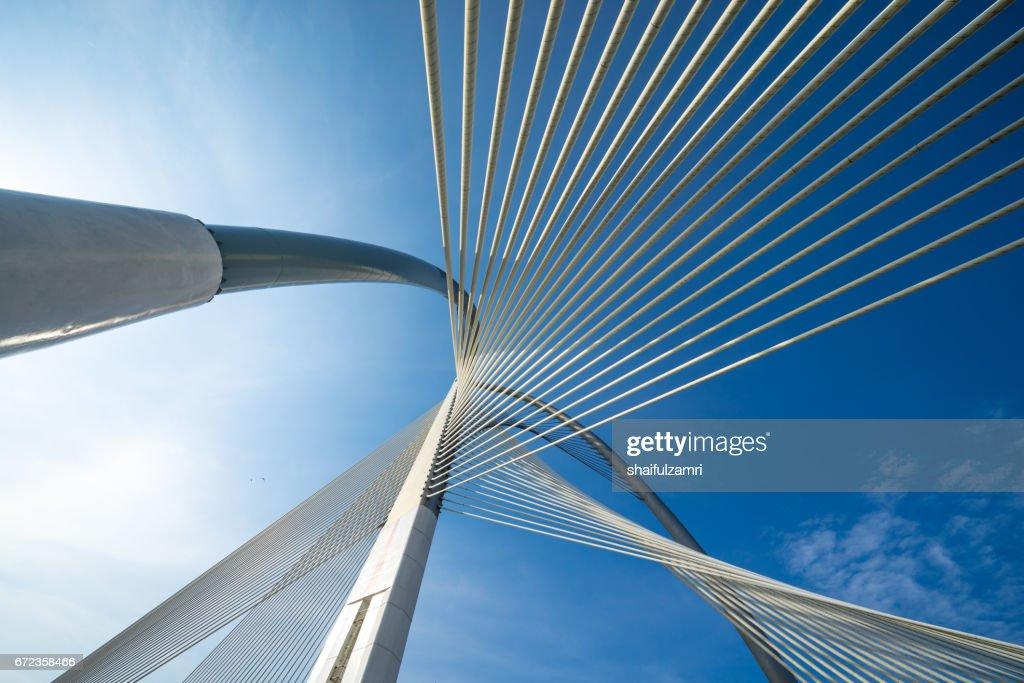 Seri Wawasan bridge in Putrajaya, Malaysia : Stock Photo