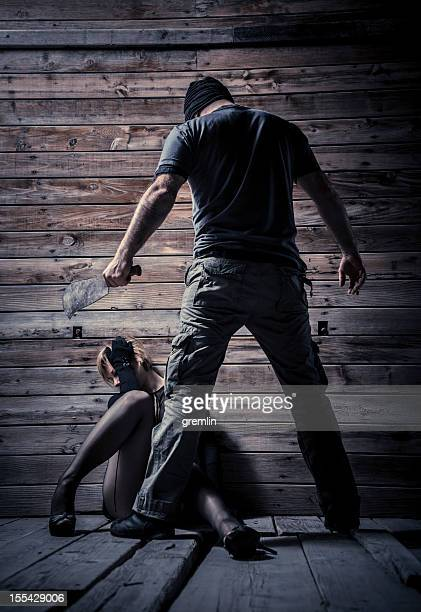 serial killer and his new victim - murdered women stock pictures, royalty-free photos & images