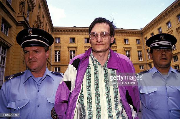 Serial Killer Francis Heaulme At Metz Courthouse On August 10th 1993